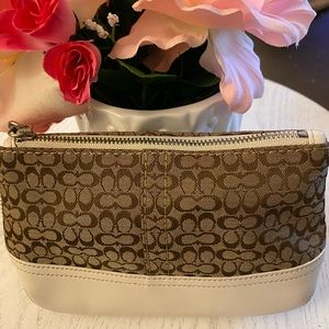 Coach CC Signature wristlet/clutch